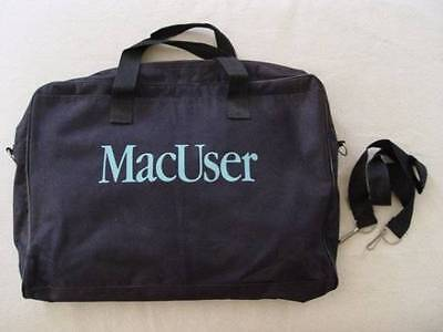 Vintage MacUser Apple Macintosh Navy White Computer Bag with Strap