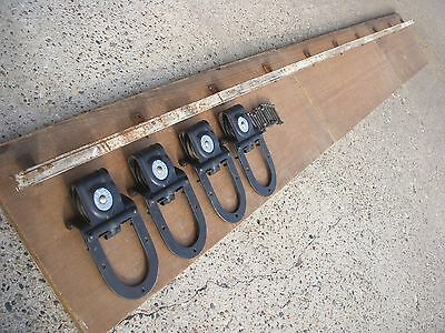 antique barn door rollers with 10' of track.
