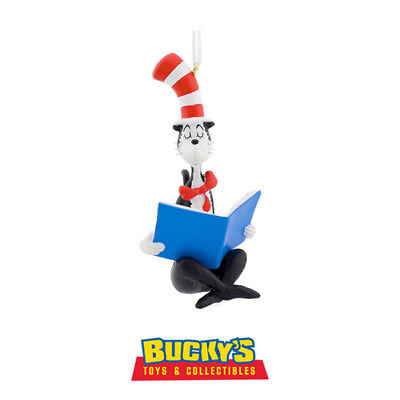 The Cat in the Hat 2016 Hallmark Dr. Seuss Ornament Reading Book Thing 1 Thing 2