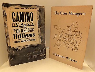 """Tennessee Williams - """"Camino Real"""" 2nd Print & """"The Glass Menagerie"""" 4th Print"""