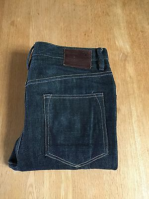 Stunning All Saints Jeans Selvage Selvedge Raw Slim Fit Blue W30
