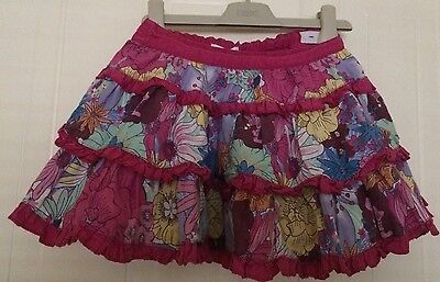 Girls M&S Autograph Skirt Age 2-3 Years - Pretty Floral Layered Skirt