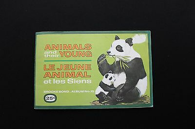 Brooke Bond.Canada,''Animals and there young'', Complete set in Album.