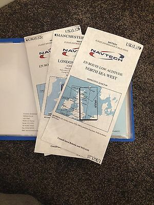 Chart organizer - for Aerad, Navtech, Jeppesen includes airport plates + charts