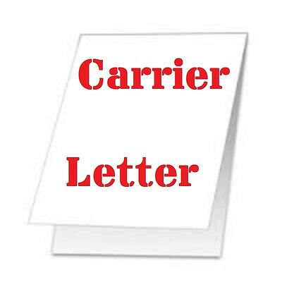 2 Carrier Sleeve's For Laminating Laminator Pouches  LETTER SIZE COATED