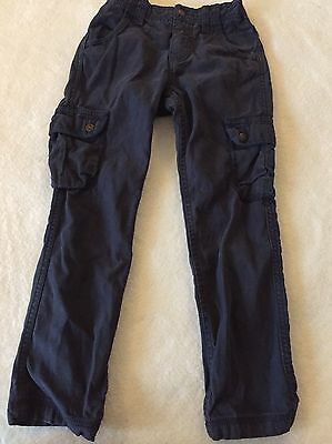 Boys Navy Fat Face Trousers Age 8 Yrs