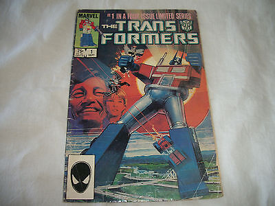 Marvel Transformers Vol.1, No.1, 1984 #1 In Four-Issue Limited Series Comic