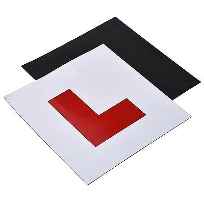 Mudder Fully Magnetic L Plates for New Drivers 2 Pack