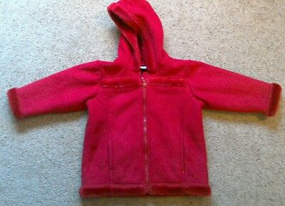 Girls suede effect fur lined hooded coat from Next Age 3 years Ex cond