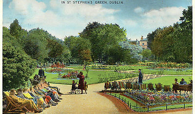 postcard Ireland  in St Stephen's Green Dublin   posted