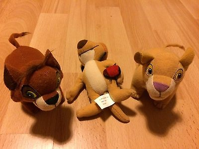 3 x Lion King McDonalds soft Toys - Fab!