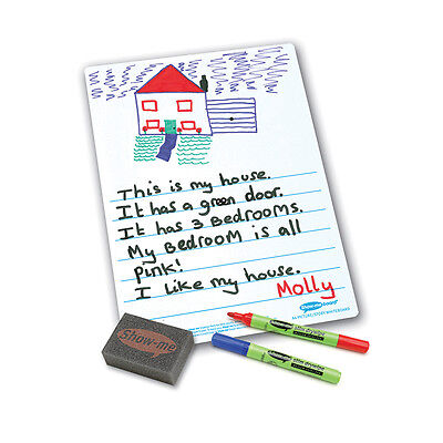 Show Me® class pack A4 Picture Story Drywipe Boards, Pens and Erasers