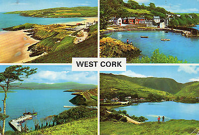 postcard Ireland  West Cork multiview  posted Hinde