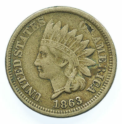 United States, Indian Head Cent, Usa, 1863