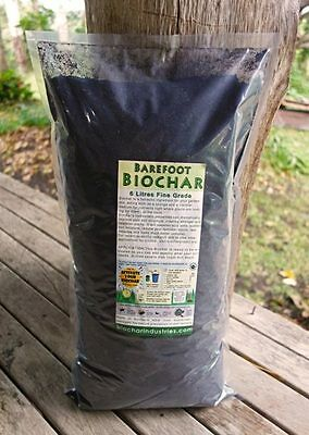 Biochar 6 litre bag ideal for gardeners and growers. Add it to your soil
