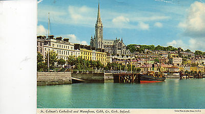 postcard Ireland  St Colman's Cathedral and waterfront , Cobh Co Cork posted
