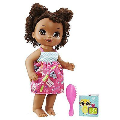 Black African American Doll Baby Alive Ready For School Hair Style Hasbro Toy
