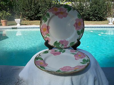 Pair Of Franciscan Desert Rose Lunch Plates Made In England