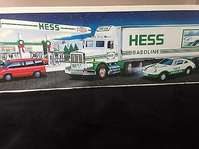 1992 Hess Toy Truck 18 Wheeler and Racer NIB