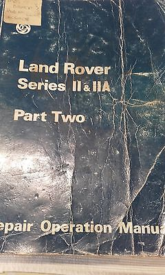 land rover series 2 & 2A  part two workshop manual
