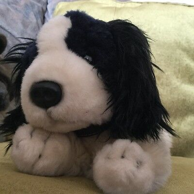 Keel Toys black and cream spaniel named Lady