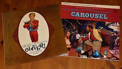 2 Classic Musical Soundtrack Vinyl LP records Oliver! Carousel