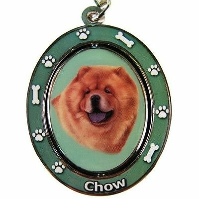 Chow Chow Dog Spinning Key Chain Fob