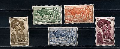 CAMEROON 1946 SG 232 to 236 MH Stamps