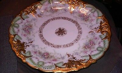 Antique Ls&s Limoges France Plate Hand Painted China....8-3/4 Inch