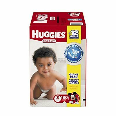 HUGGIES Snug & Dry Diapers, Size 3, 180 Count (Packaging May Vary) New