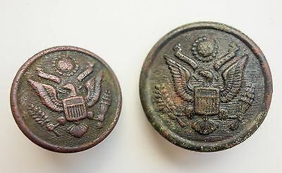 US 2 different buttons USA Old Army Eagle WWI