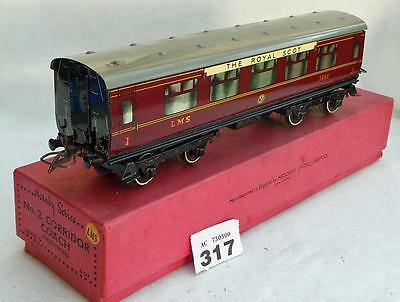 #317 Hornby O gauge No.2 1st/3rd LMS Corridor Coach in box