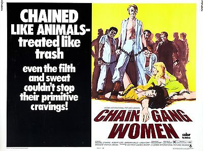 """Chain Gang Women 16"""" x 12"""" Reproduction Film Poster Photograph"""