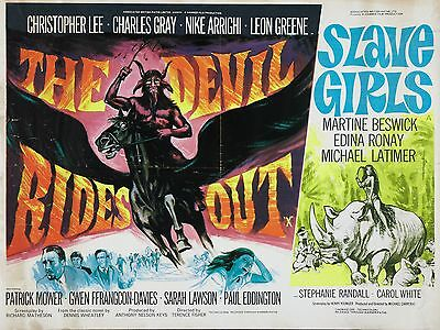 """The Devil Rides Out / Slave Girls 16"""" x 12"""" Reproduction Movie Poster Photo"""