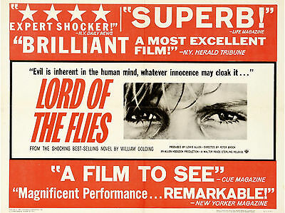 """Lord of the Flies 1963 16"""" x 12"""" Reproduction Movie Poster Photograph"""