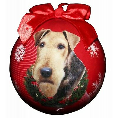 Airedale Terrier Shatterproof Ball Dog Christmas Ornament