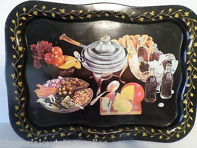 """Vintage Coca Cola Serving Tray Coke Cheese Appetizers Sign Advertising 19"""" x 13"""""""