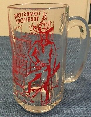 LeSourdsville Lake Middletown OH Tombstone Territory Cowboy Glass Mug Stein