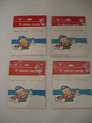 Vintage American Greetings ZIGGY Place Cards New Old Stock 32 total 4 sets NIP