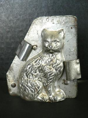 "Vintage 3.5"" Kitty Cat Chocolate Mold Easter  With Clips Candy Soap 912"