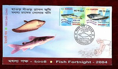 BANGLADESH STAMPS- Fish Fortnight, 2004 FDC