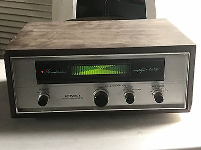 Vintage Pioneer SR-202W Reverberation Amplifier Powers On! No Further Testing