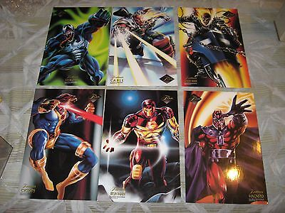 1994 Flair Marvel Annual Case Topper Flairprints Jumbo Insert 9 Card Set Lot
