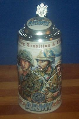 Budweiser 1999 ARMY HONORING TRADITION & COURAGE Stein CS357 With Box & COA!
