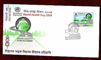 BANGLADESH STAMPS- Road Safety  2004 FDC