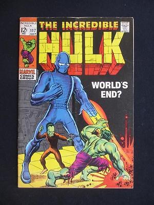 The Incredible Hulk #117 High end reader's copy comic book Marvel 1969