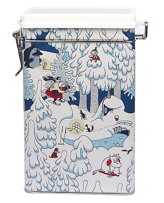 Moomin Winter Land Coffee Tea Tin Box Martinex