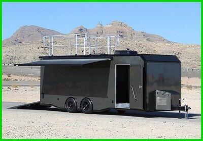 SEE VIDEO!! 2017 ALUMINUM CAR HAULER TRAILER W/ ESCAPE DOOR New
