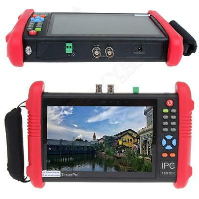 "IPC9800 7"" Touch Screen CCTV Analogy Video HD1080P IP Camera Wifi Tester POE UTP"
