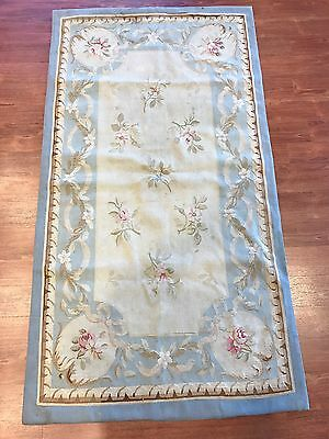 Antique French Aubusson Tapestry 2.8 X 5.3 19th Century